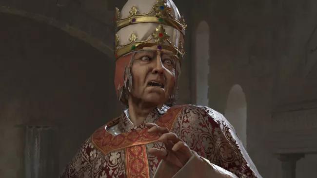 Papa spaventato in Crusader Kings III