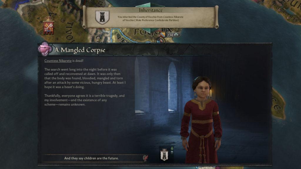 Complotto andato a buon segno in Crusader Kings III