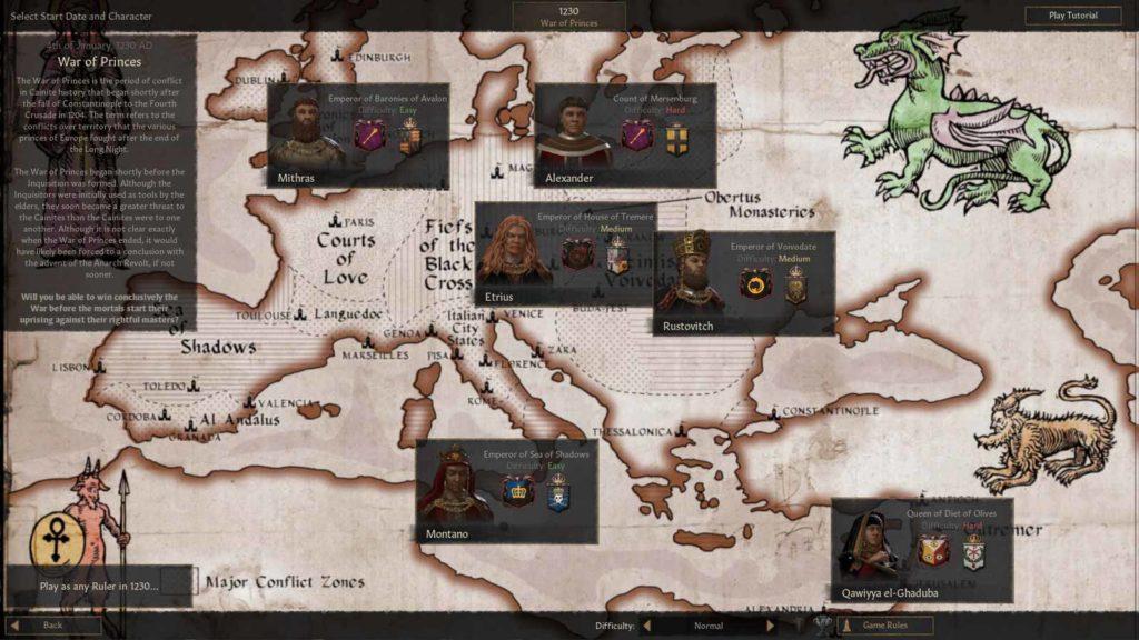 Mod di Crusader Kings III ambientata nel Mondo di Tenebra