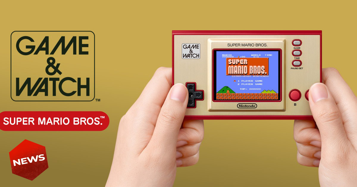 Ritorna il Game & Watch con Super Mario Bros