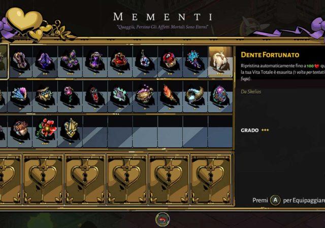 Hades: come ottenere tutti i mementi del gioco e quali sono i migliori da equipaggiare