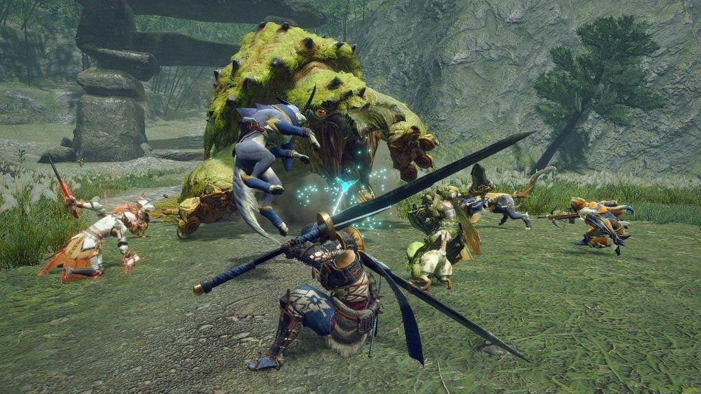 Combattimento con un nuovo mostro di Monster Hunter Rise