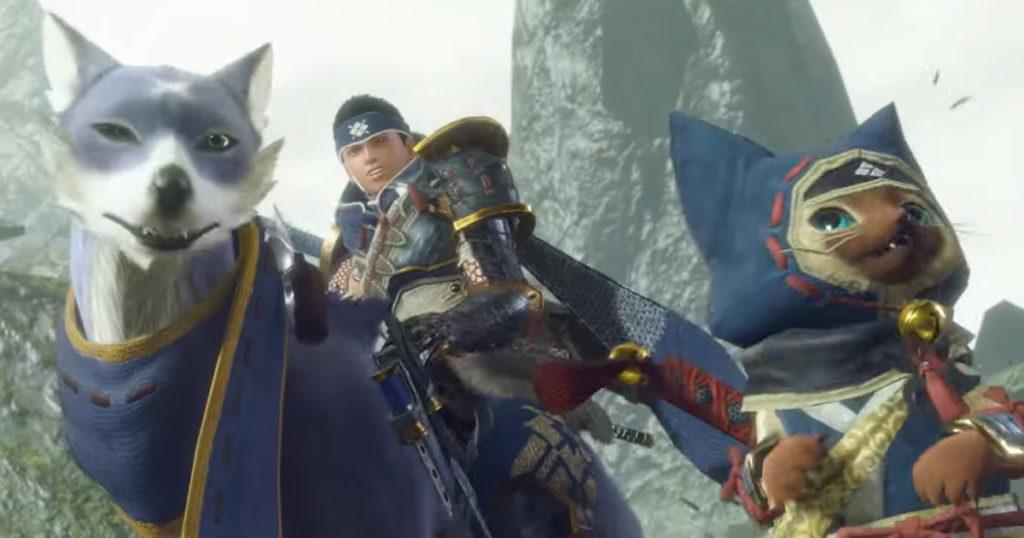 Canyne e Felyne, i due compagni dei cacciatori di Monster Hunter Rise