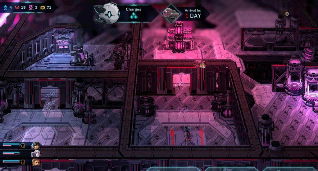 Frazione di una mappa interna di Star Renegades