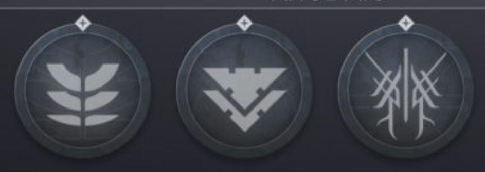 Zoom su simbolo dei Corvi di Destiny 2