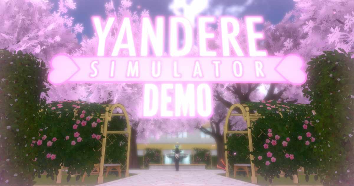 Schermata iniziale di Yandere Simulator