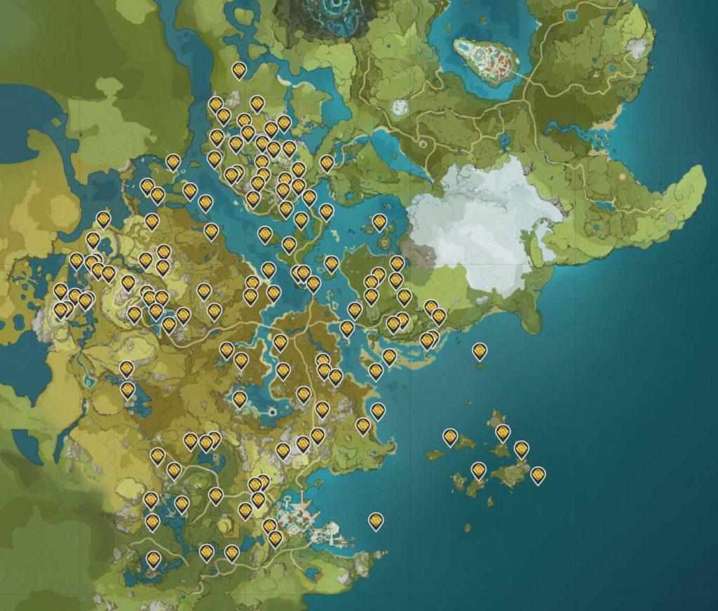 Genshin Impact Mappa dei Geoculus