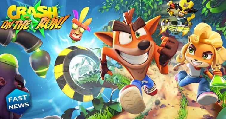 crash bandicoot on the run arriva su smartphone