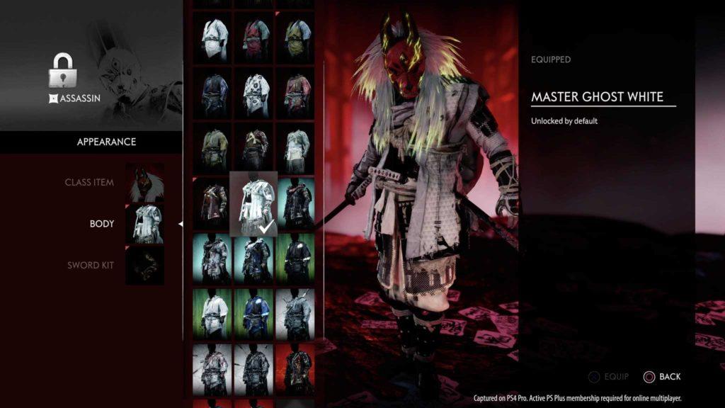Personalizzazione in Ghost of Tsushima: Legends