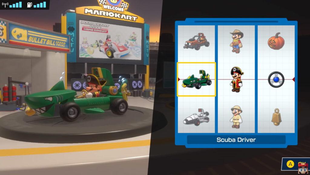 Personalizzazione in Mario Kart Live: Home Circuit
