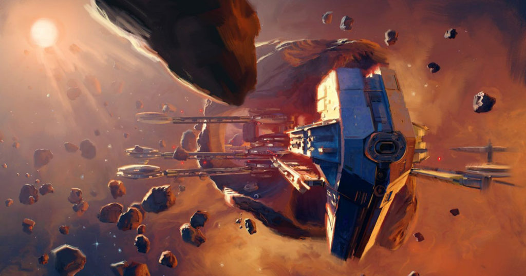 Artwork di una mappa di Star Wars: Squadrons