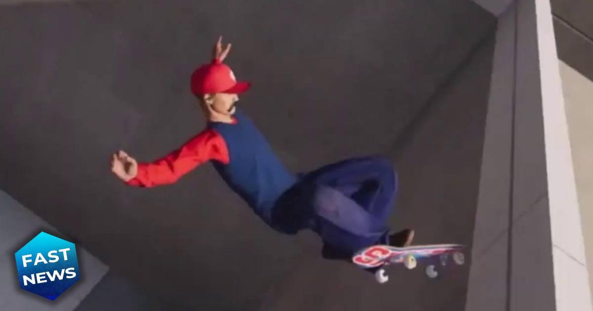 Tony Hawk's Pro Skater 1+2, Super Mario, Super Mario in Tony Hawk's Pro Skater 1+2, Tony Hawk,