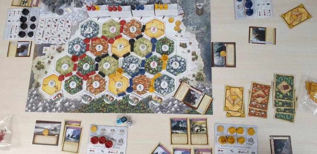 Tabellone visto dall'alto ne Il Trono di Spade - Catan