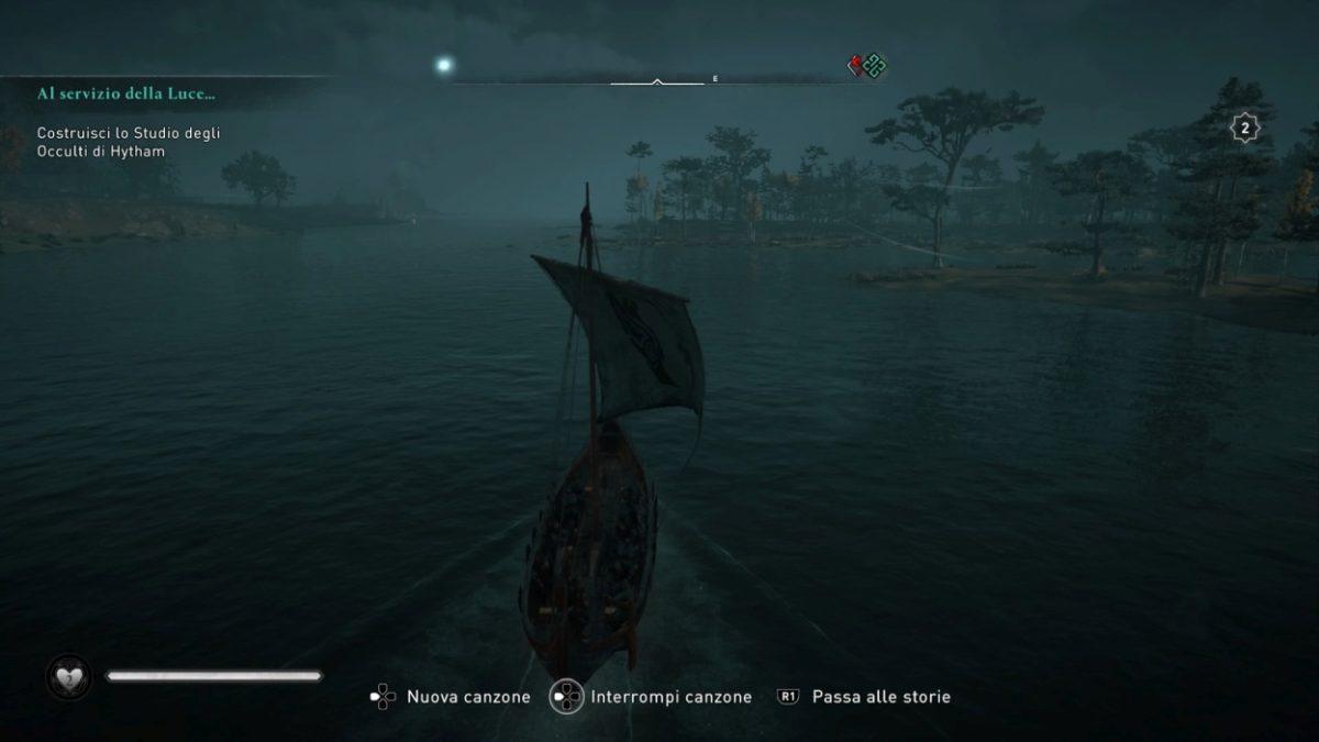 navigazione nella notte