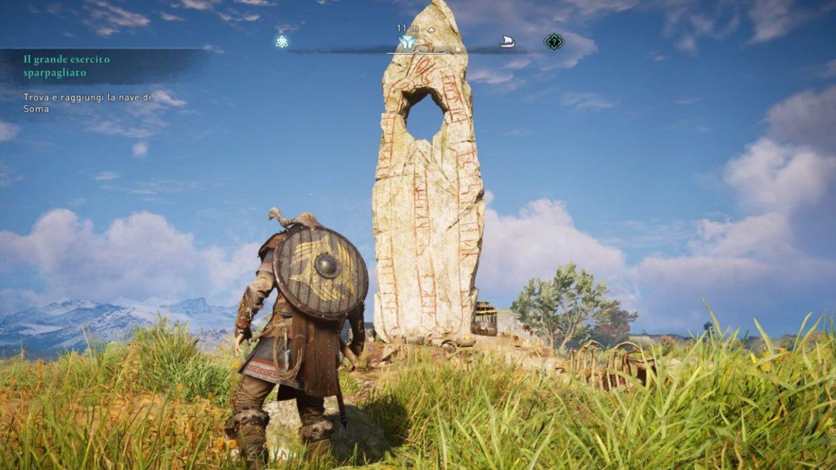 Assassin's Creed Valhalla pietra dolmen menhir