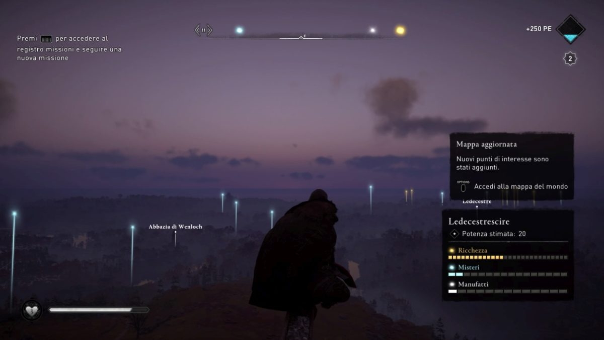 Assassin's Creed Valhalla colpo d'occhio mappa sincronizzazione