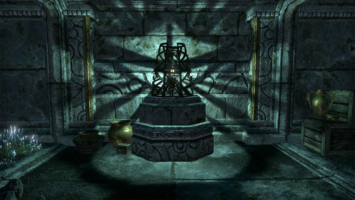 Giochi di luce e ombre nelle rovine Dwemer