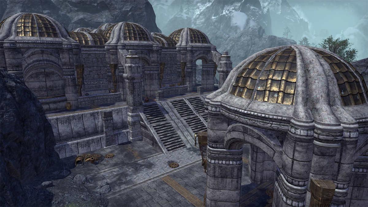 Alcune rovine Dwemer nel Reach, molto simili a quelle incontrate in TES V: Skyrim