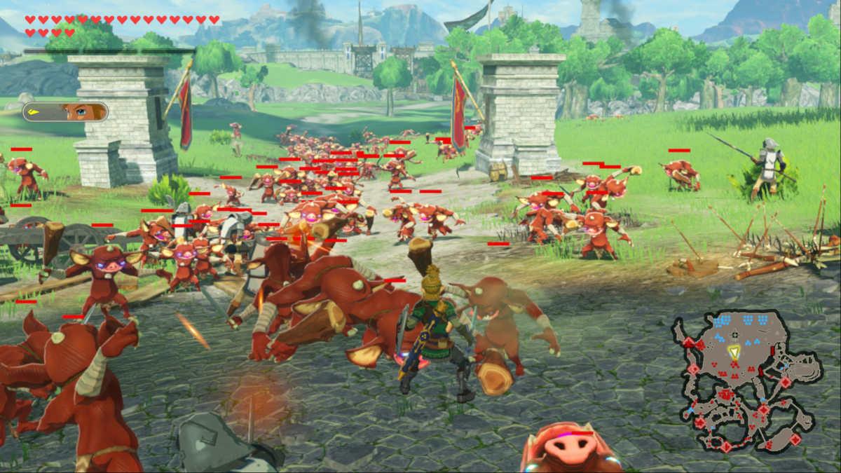 Una battaglia nella piana di Hyrule