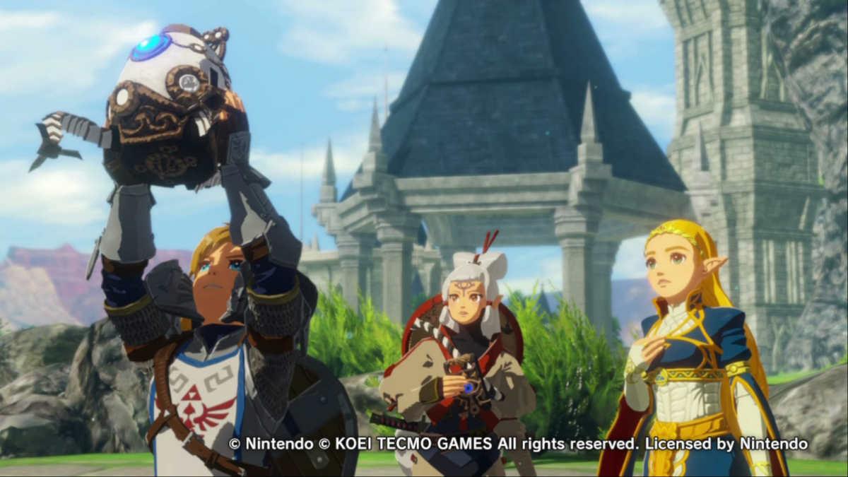 Link, Impa, Zelda e il piccolo guardiano