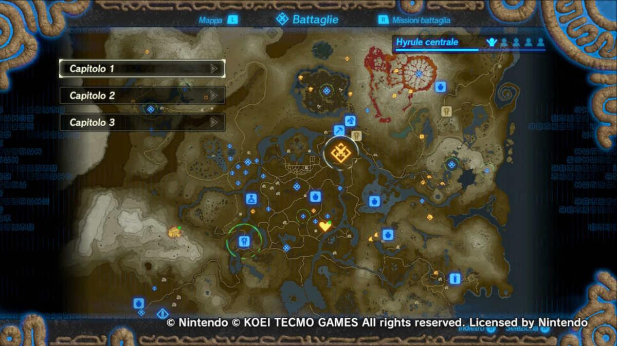 La mappa di Hyrule