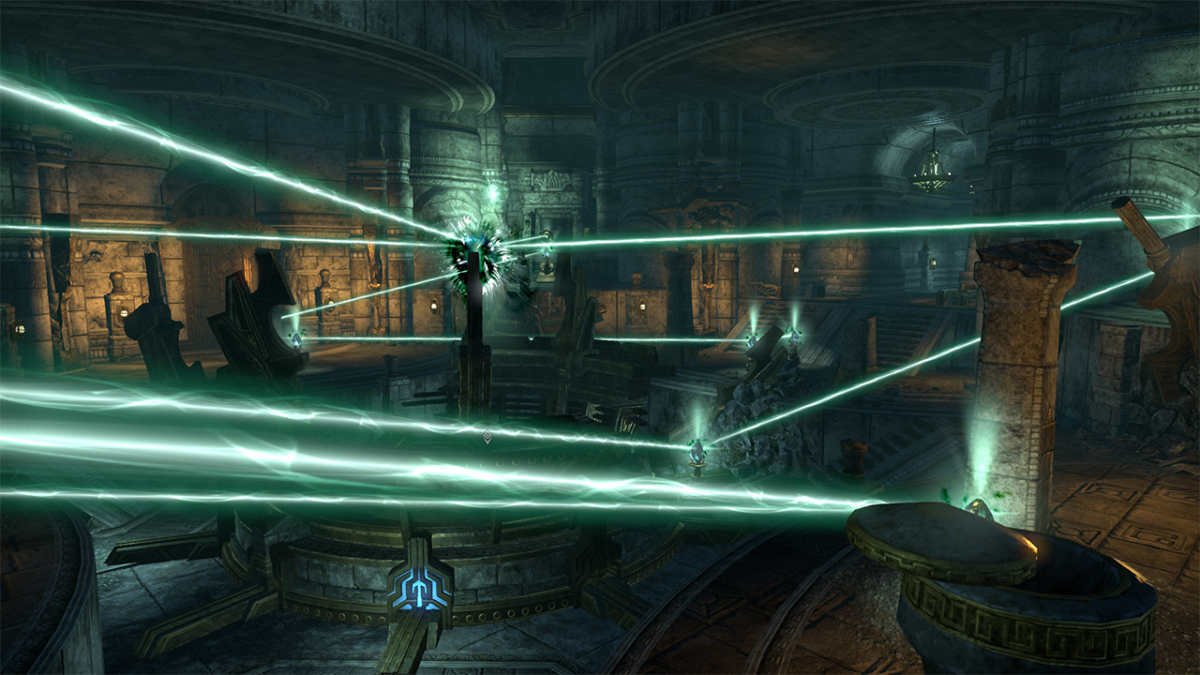 Raggi e specchi, uno dei puzzle del DLC Markarth