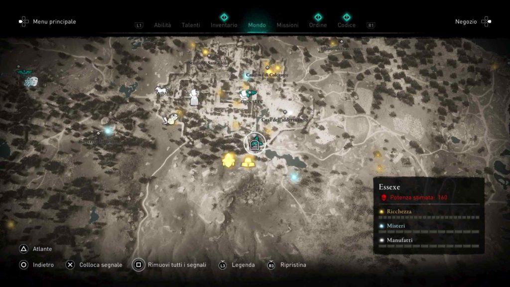 Assassin's Creed Valhalla armatura occulti Colcestre