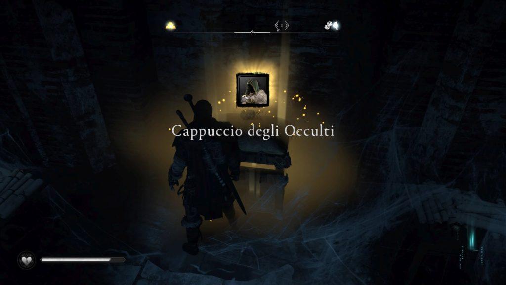 Assassin's Creed Valhalla armatura occulti Cappuccio degli occulti