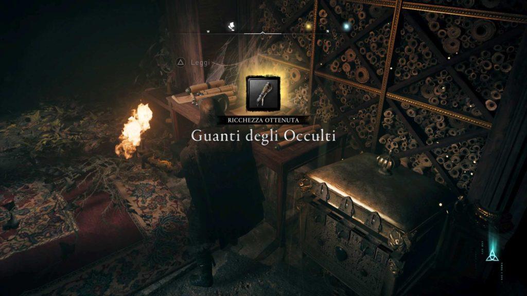 Assassin's Creed Valhalla armatura occulti guanti occulti