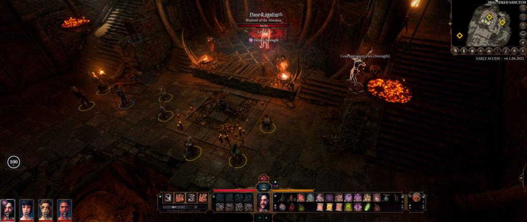 Schieramento dei personaggi in combattimento contro i goblin di Baldur's Gate 3