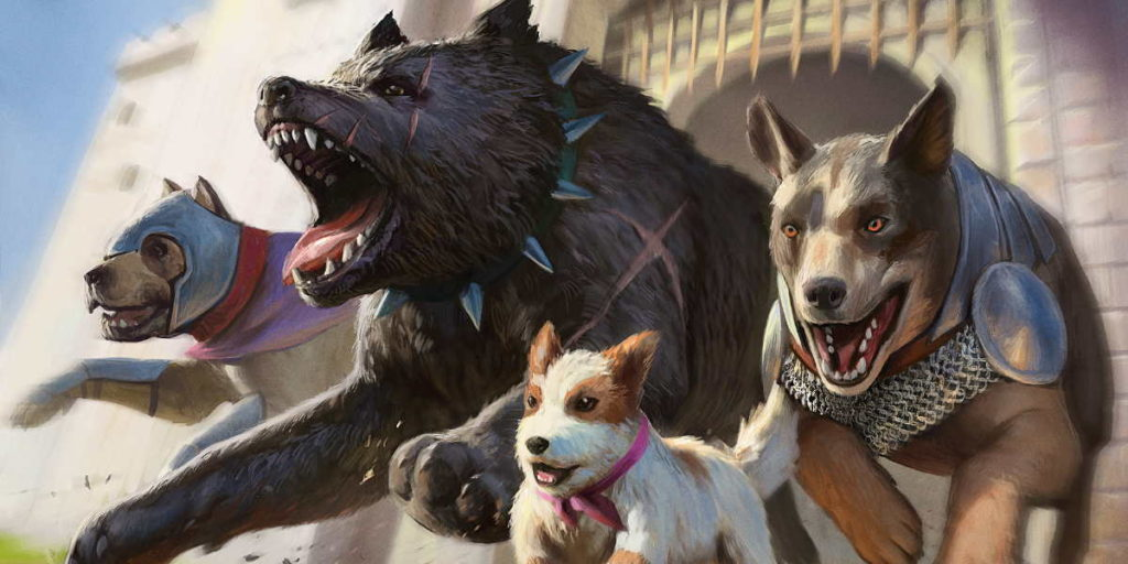 Illustrazioni di cani, da Jumpstart