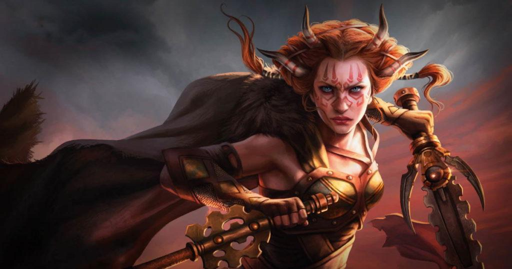 Immagine di Jeska, celebre eroina di Magic: The Gathering, salvatrice di Dominaria e dell'intero Multiverso