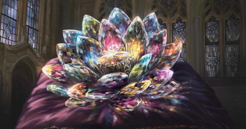 Illustrazione per la carta Jeweled Lotus, dal set Commander Legends per Magic: the Gathering