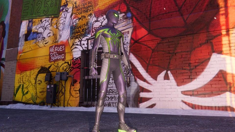come ottenere il costume dominio viola in spiderman miles morales