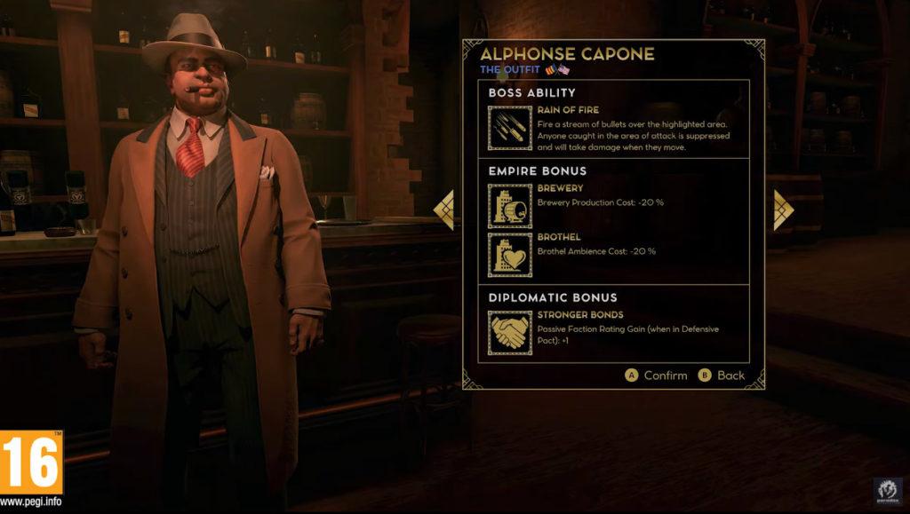 Scelta di Al Capone in Empire of Sin