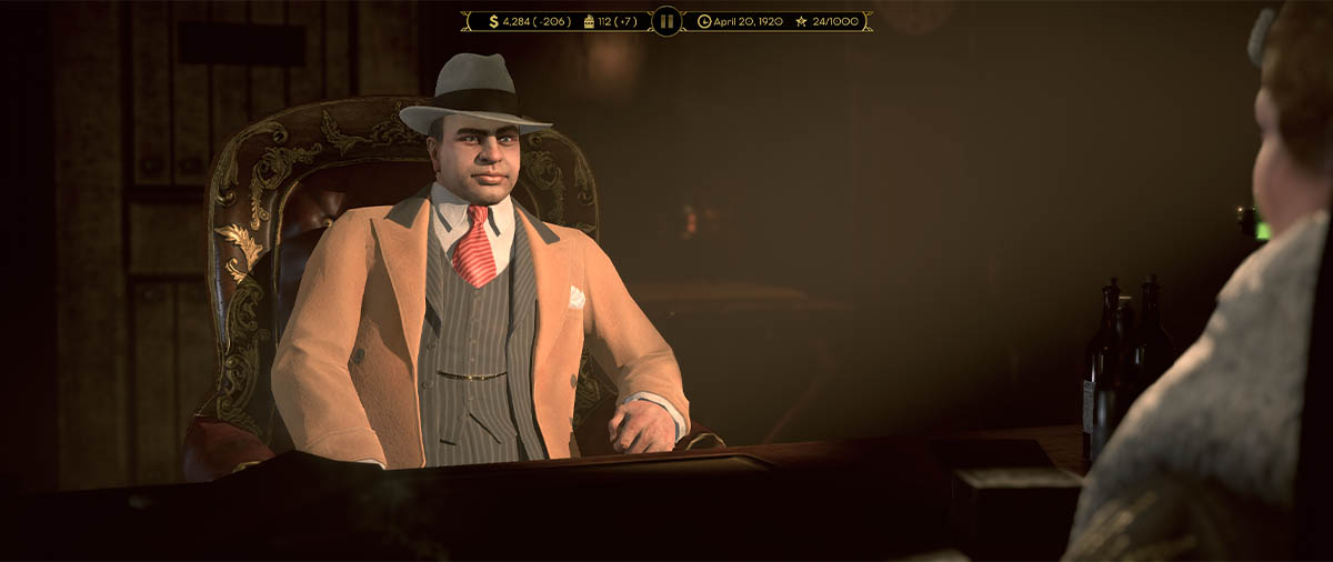 Al Capone in un sit-in di Empire of SIn
