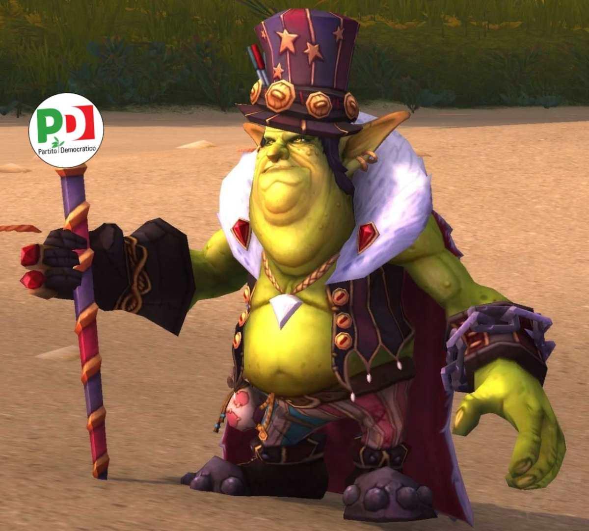 Il segretario del PD versione World of Warcraft. Noioso pure li!