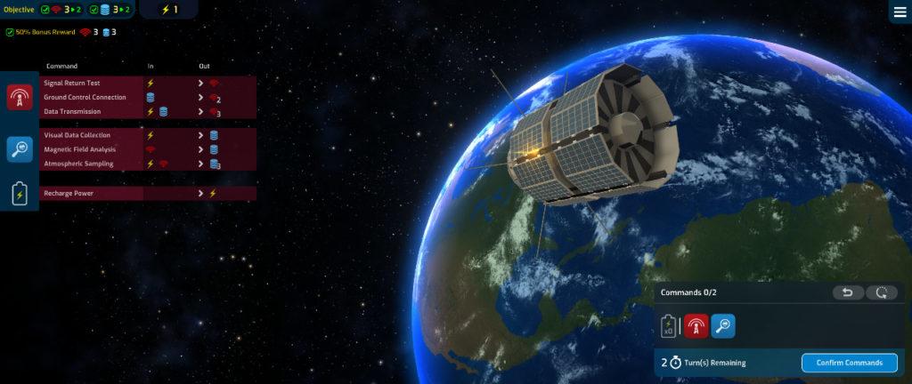 Satellite in orbita in Mars Horizon