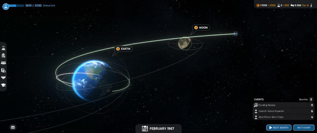 Schermata principale di Mars Horizon