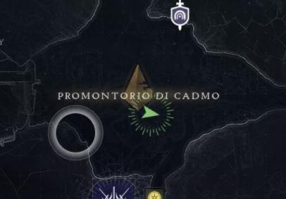 Posizione dell'Exo morto nel Promontorio di Cadmo