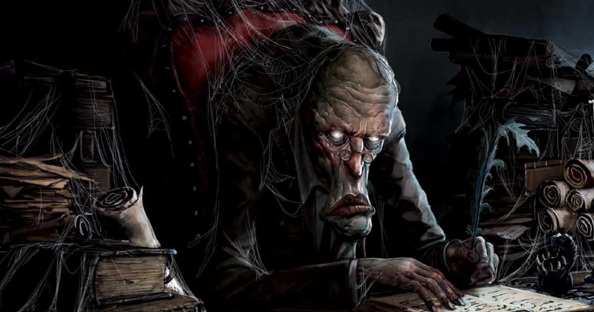 Illustrazione interna di Unglorious, rappresentante un burocrate dell'Orto