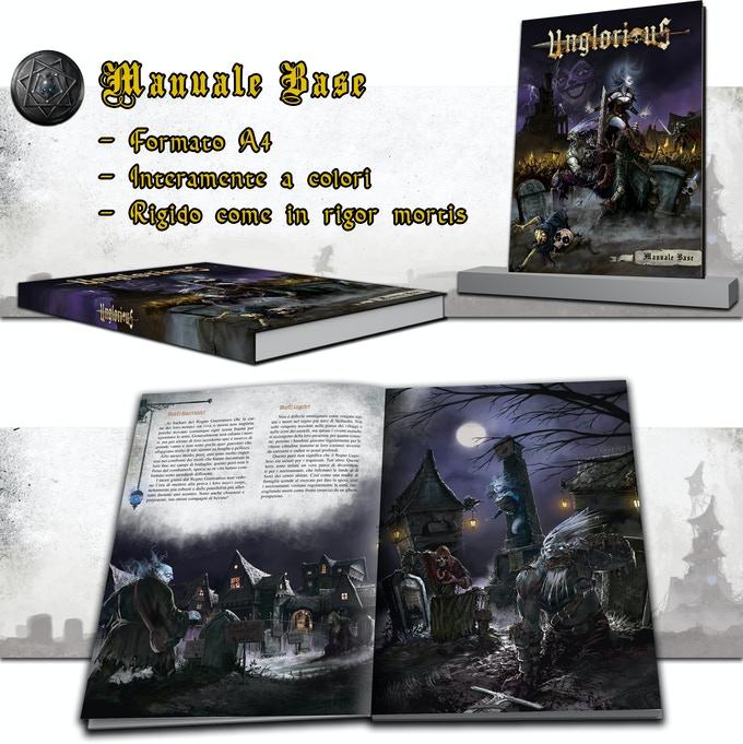 Cover e interni per Manuale Base del Gdr Unglorious