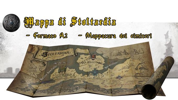Mappa di Stoltardia, accessorio per il gdr Unglorious