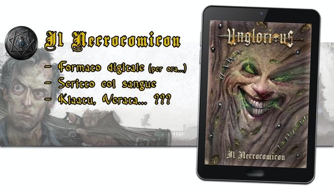 Presentazione espansione Il Necrocomicon per il gdr Unglorious
