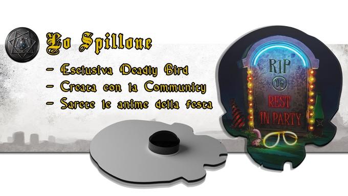 Spilla Deadly Bird, accessorio per gdr Unglorious