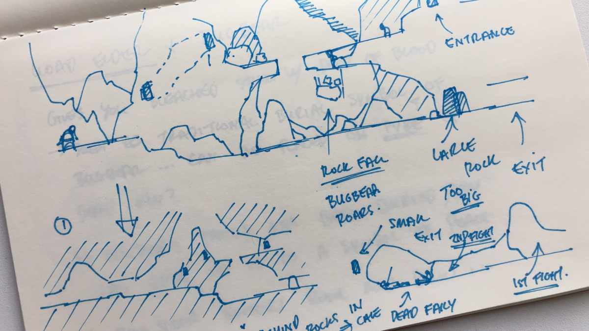 Unto the End, sketch level design
