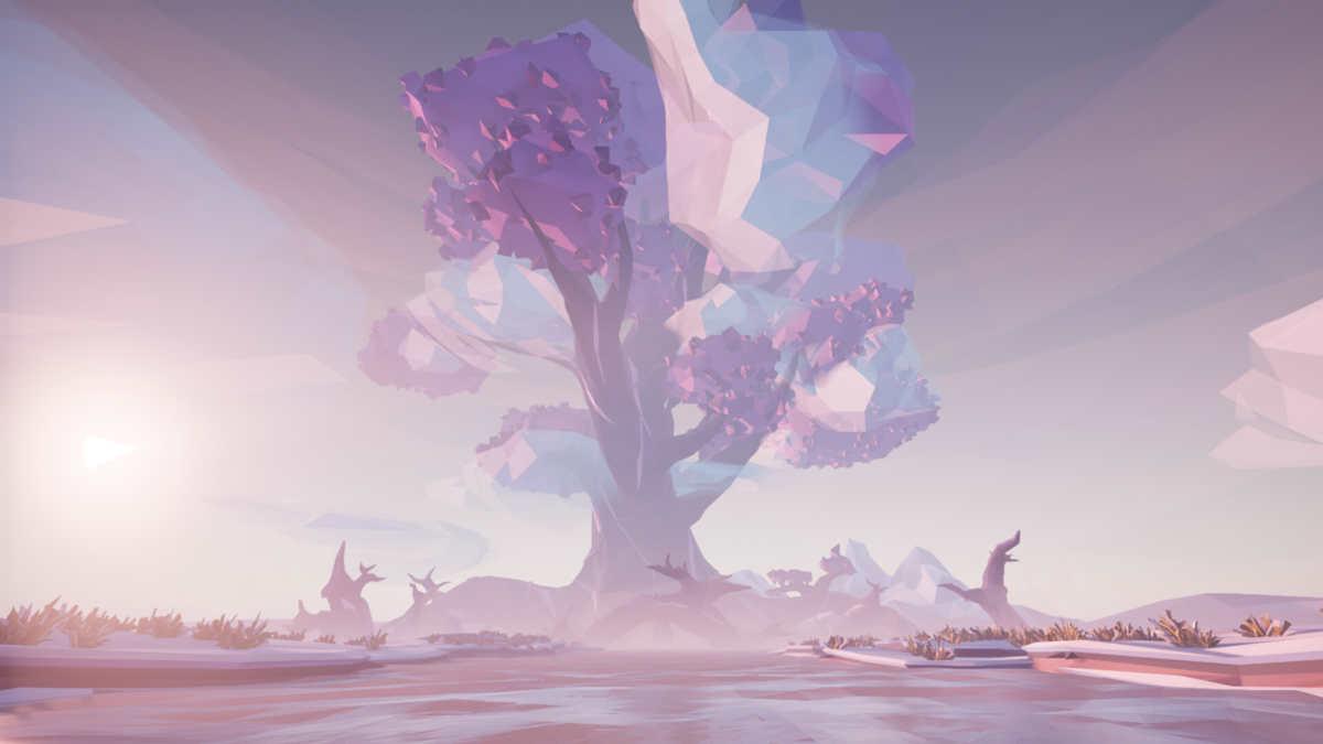 Uno screenshot di un albero nel gioco