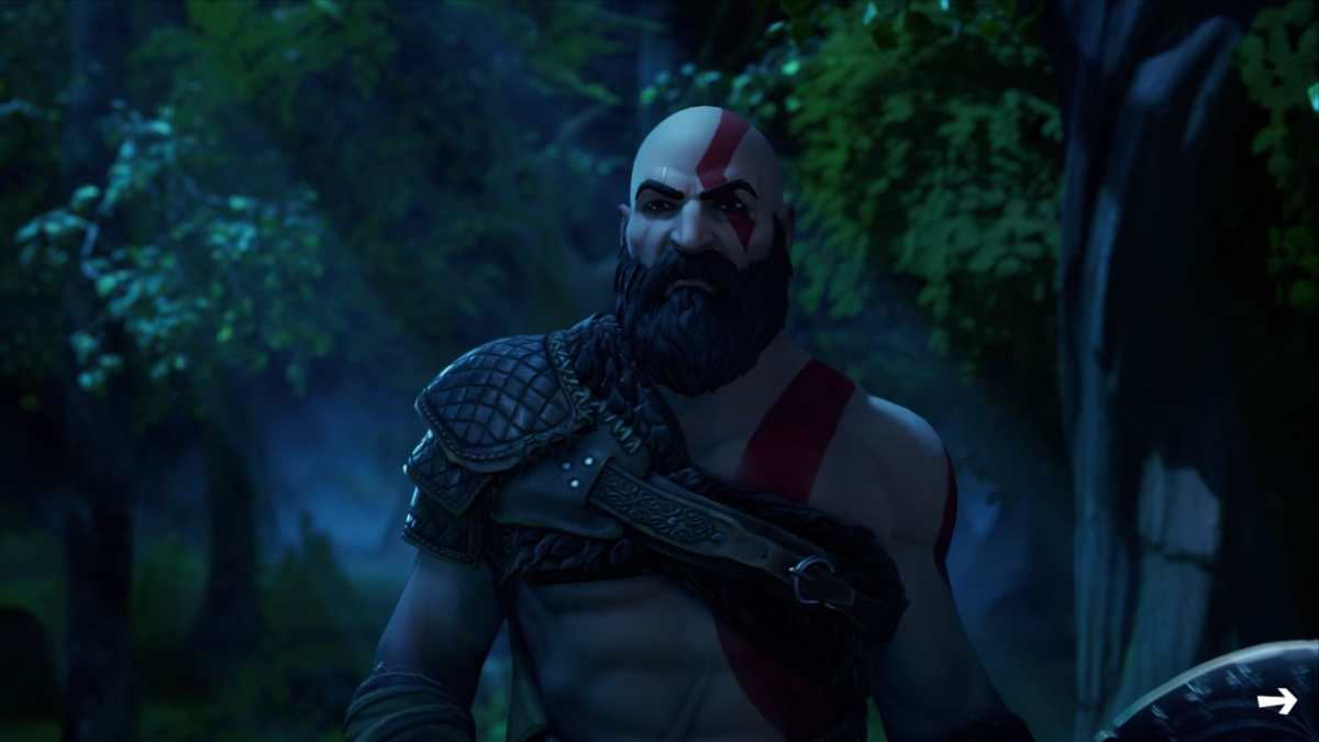 fortnite god of war kratos presentazione