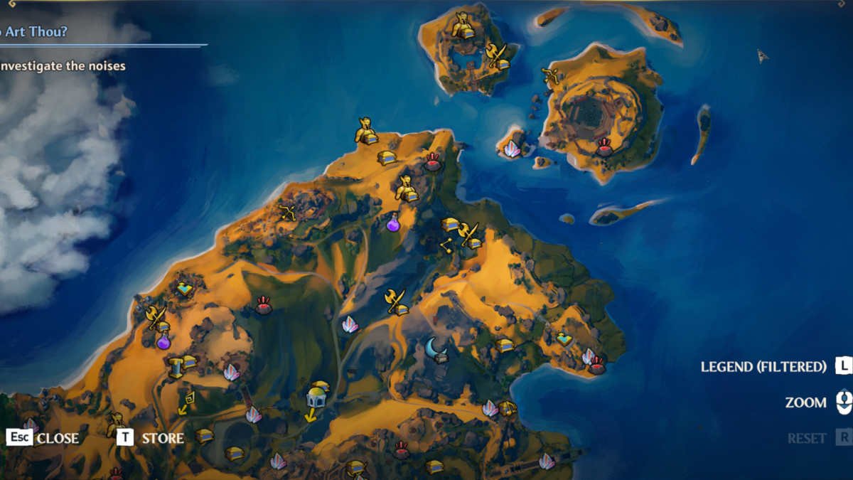 Immortal Fenyx Rising mappa collezionabili