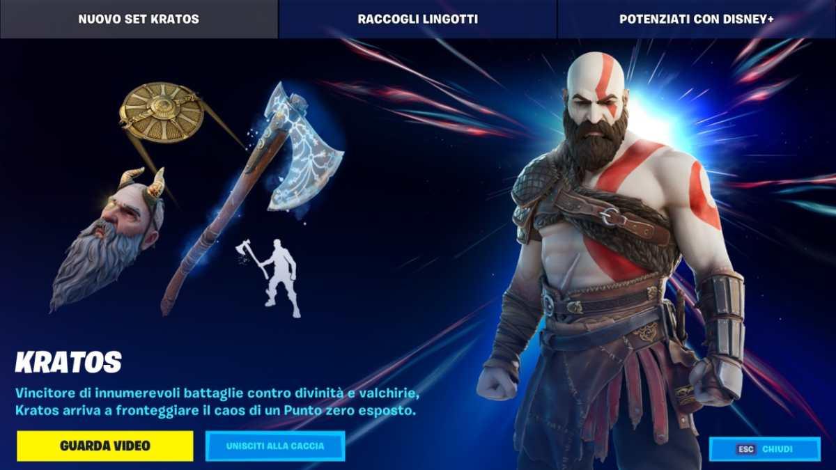God Of War Kratos Fortnite